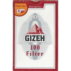 Φιλτράκια Gizeh Κόκκινο 8mm - Πακέτο 10 τεμαχίων