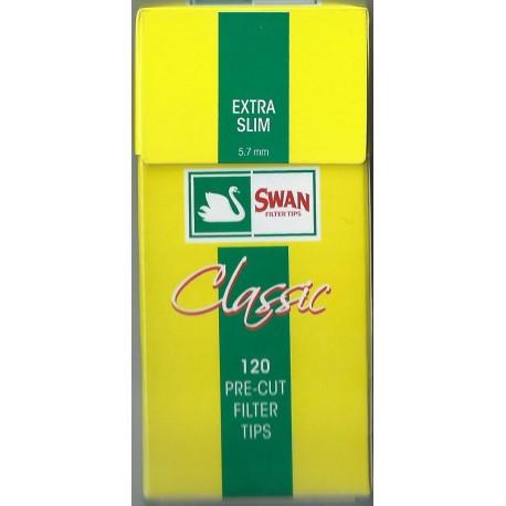 Φιλτράκια Swan Extra Slim (Κίτρινο) - Πακέτο 10 τεμαχίων
