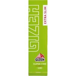 Χαρτάκια Gizeh Λαχανί Extra Slim - Πακέτο 10 τεμαχίων