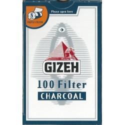 Φιλτράκια Gizeh Μπλέ Ενεργού Άνθρακα 8mm - Πακέτο 10 τεμαχίων