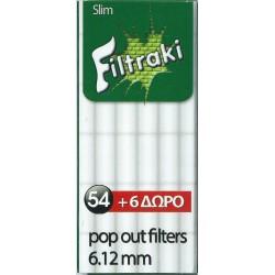 Φιλτράκια Filtraki Slim 6,12mm (60 φίλτρα) - Πακέτο 10 τεμαχίων