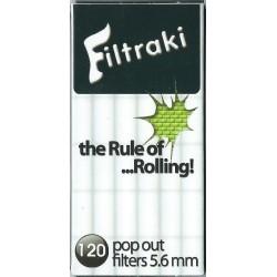 Φιλτράκια Filtraki Super Slim 5,6mm (120 φίλτρα) - Πακέτο 10 τεμαχίων